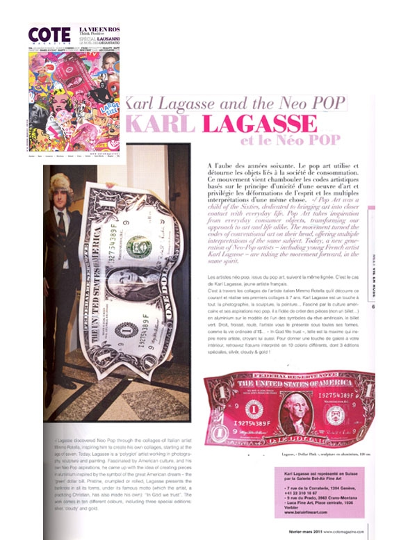 <b>Cote Magazine<br/>March 2011</b><br/>Karl Lagasse and Neo Pop