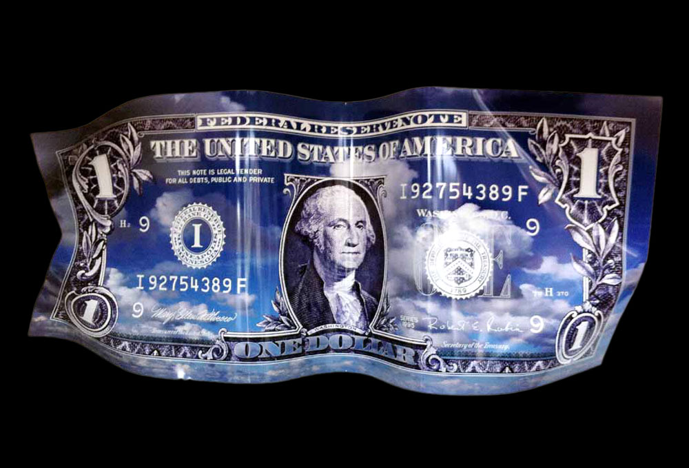 Karl Lagasse - One Dollar - Aluminium photo 4